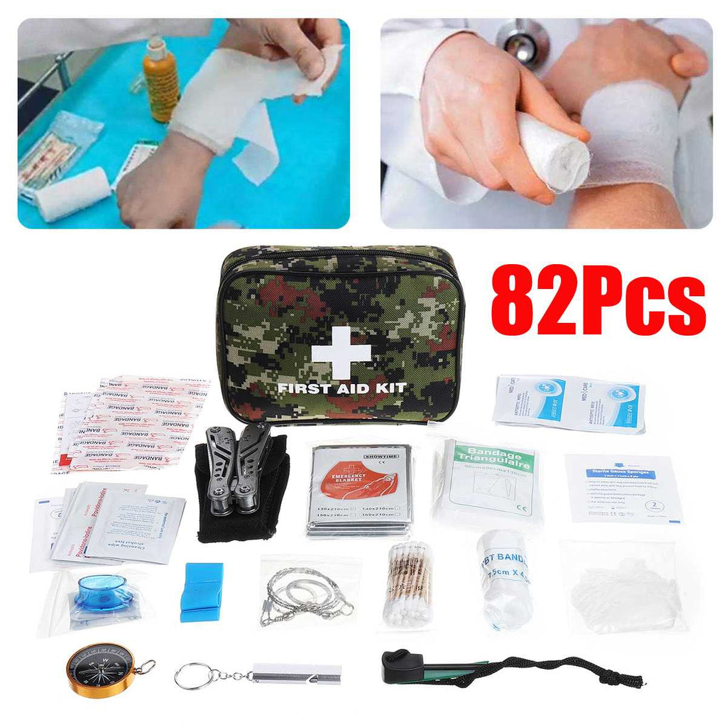 First Aid Kit For Medicines Outdoor SOS Emergency