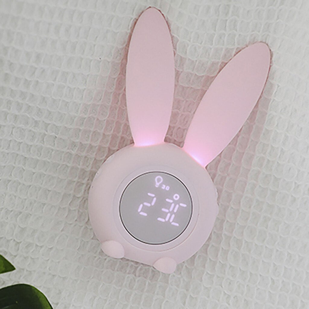 Cute Rabbit Alarm Clock Creative Led Digital Magnetism