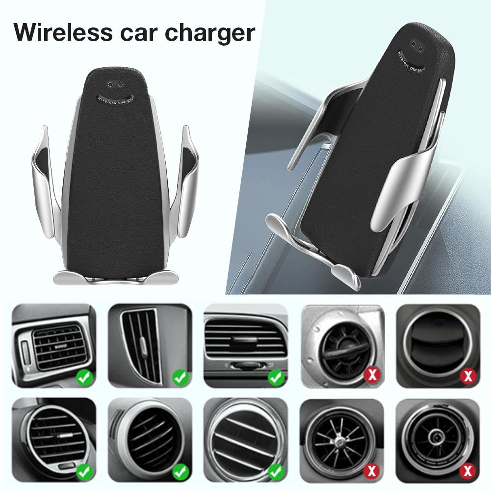 Wireless Car Charger Infrared Automatic Sensor Clamping
