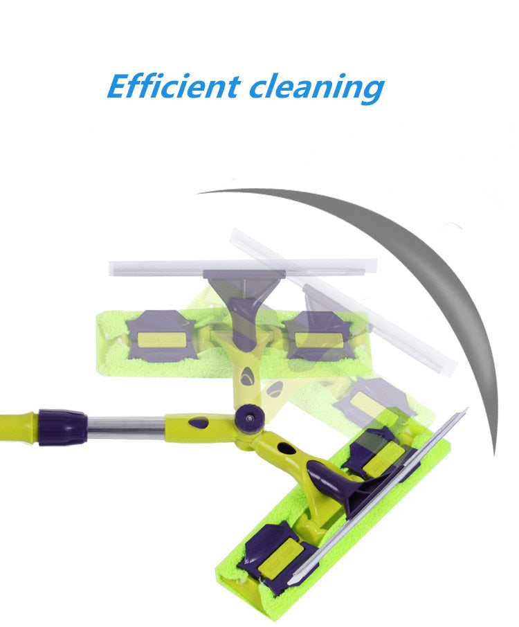 Glass Cleaning Tool Double-sided Telescopic Rod Window Cleaner