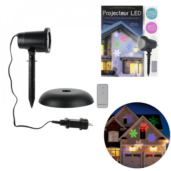 Projector Ext led snowflake + remote control