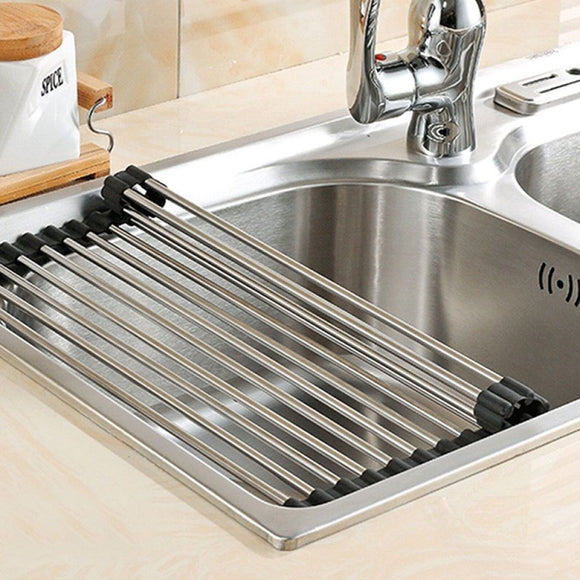 Non-Slip Collapsible Drainer for Sink Sink