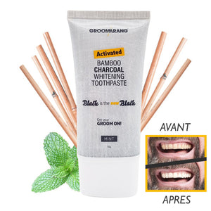 Natural Black Bamboo Charcoal Whitening Toothpaste