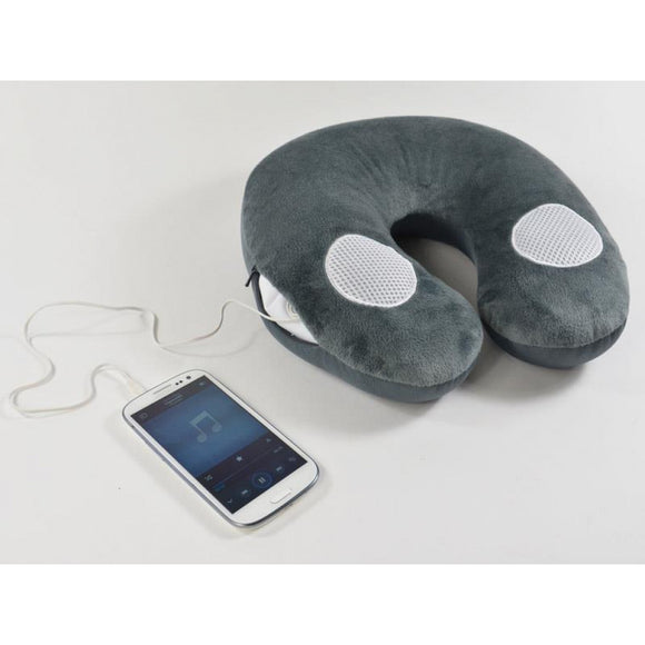 Travel pillow with built-in loudspea