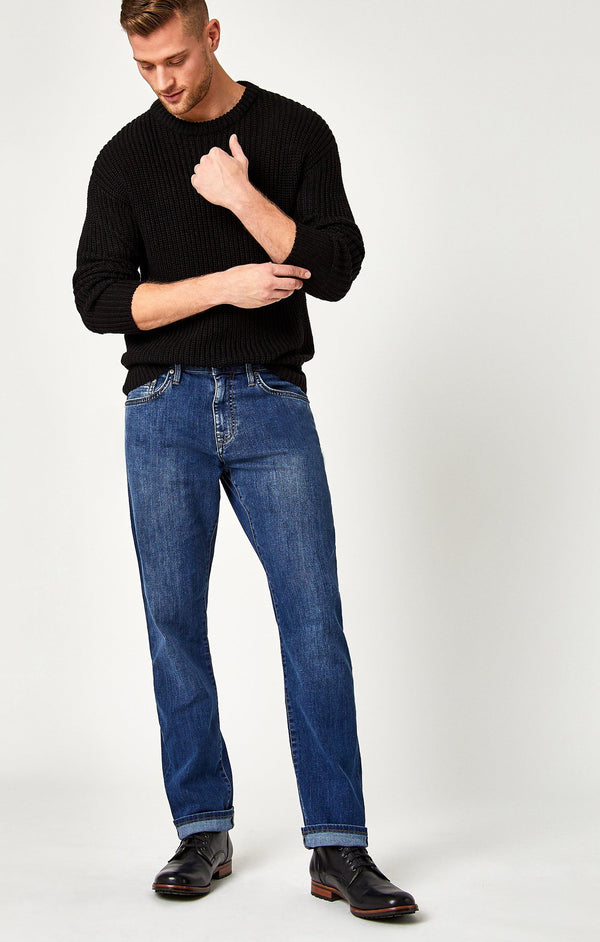 MYLES STRAIGHT LEG IN DARK CLEAN COMFORT - Mavi Jeans