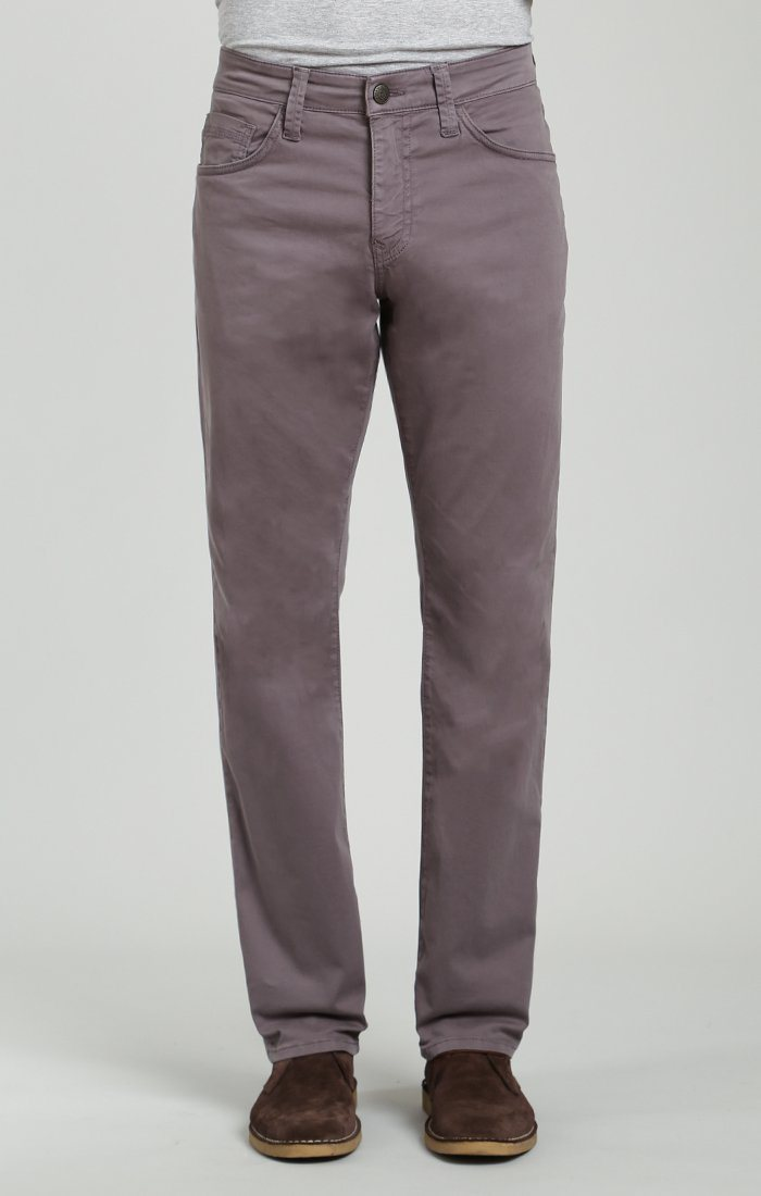 MYLES STRAIGHT LEG IN DARK GREY TWILL
