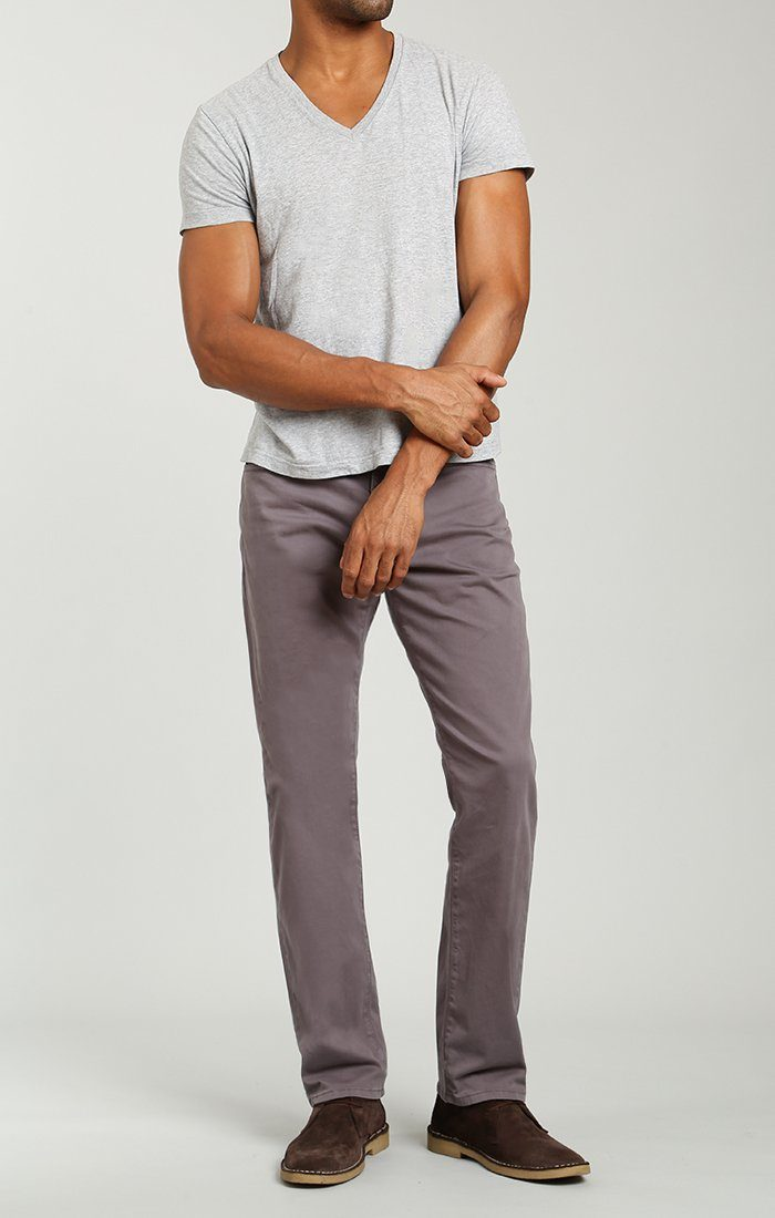 MYLES STRAIGHT LEG IN DARK GREY TWILL - Mavi Jeans