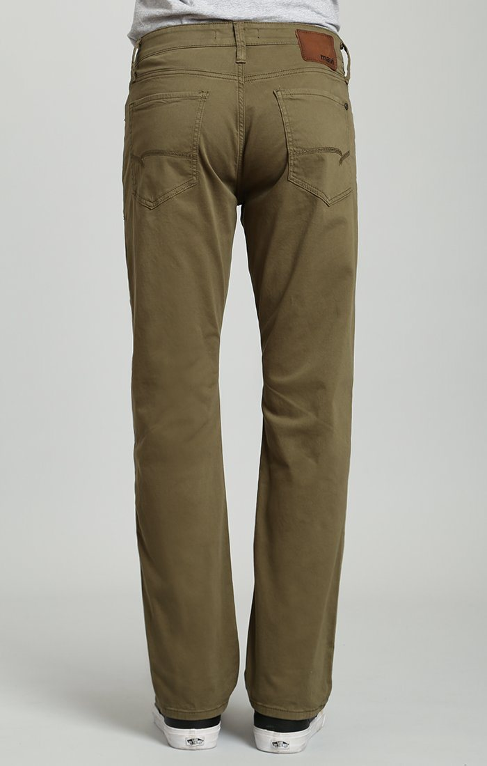 MYLES STRAIGHT LEG IN GREEN OLIVE TWILL - Mavi Jeans