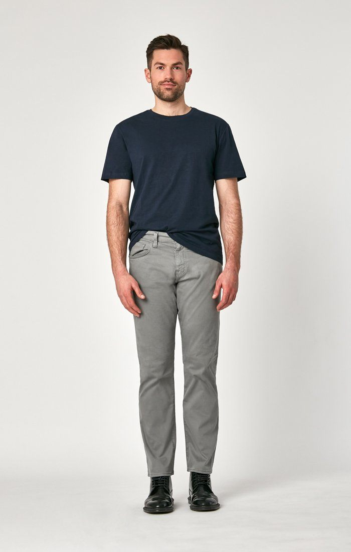 MATT RELAXED STRAIGHT LEG IN GREY TWILL Image 3
