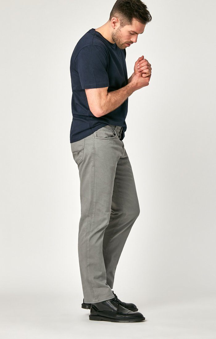 MATT RELAXED STRAIGHT LEG IN GREY TWILL Image 4