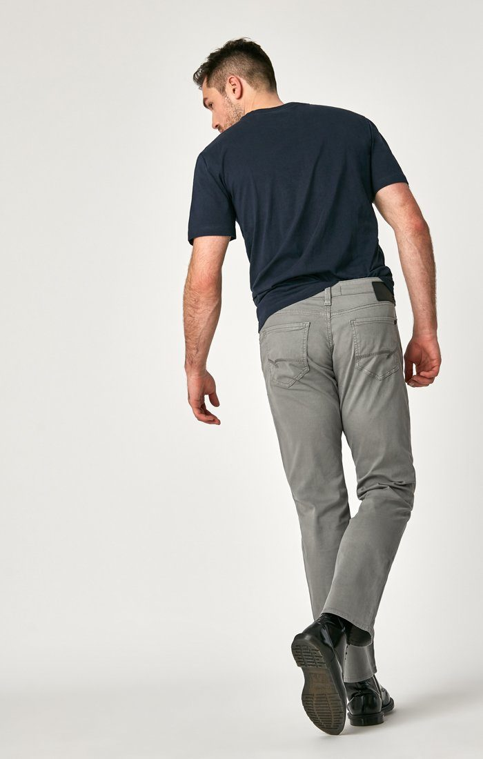 MATT RELAXED STRAIGHT LEG IN GREY TWILL Image 5