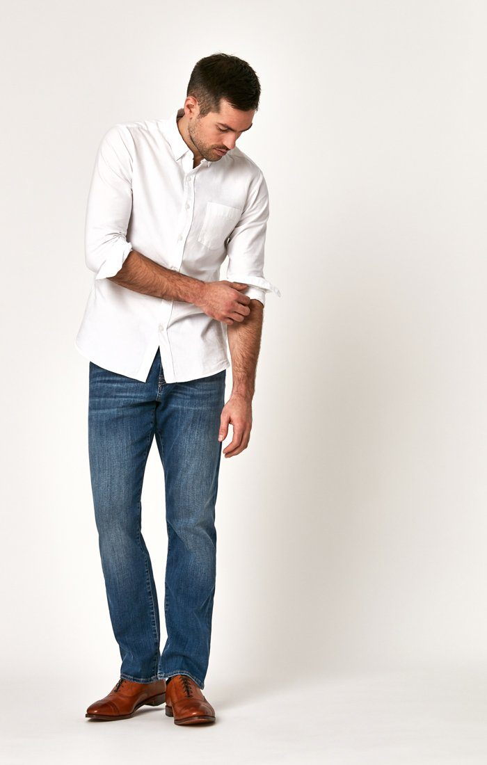 MATT RELAXED STRAIGHT LEG IN MID FOGGY WILLIAMSBURG - Mavi Jeans