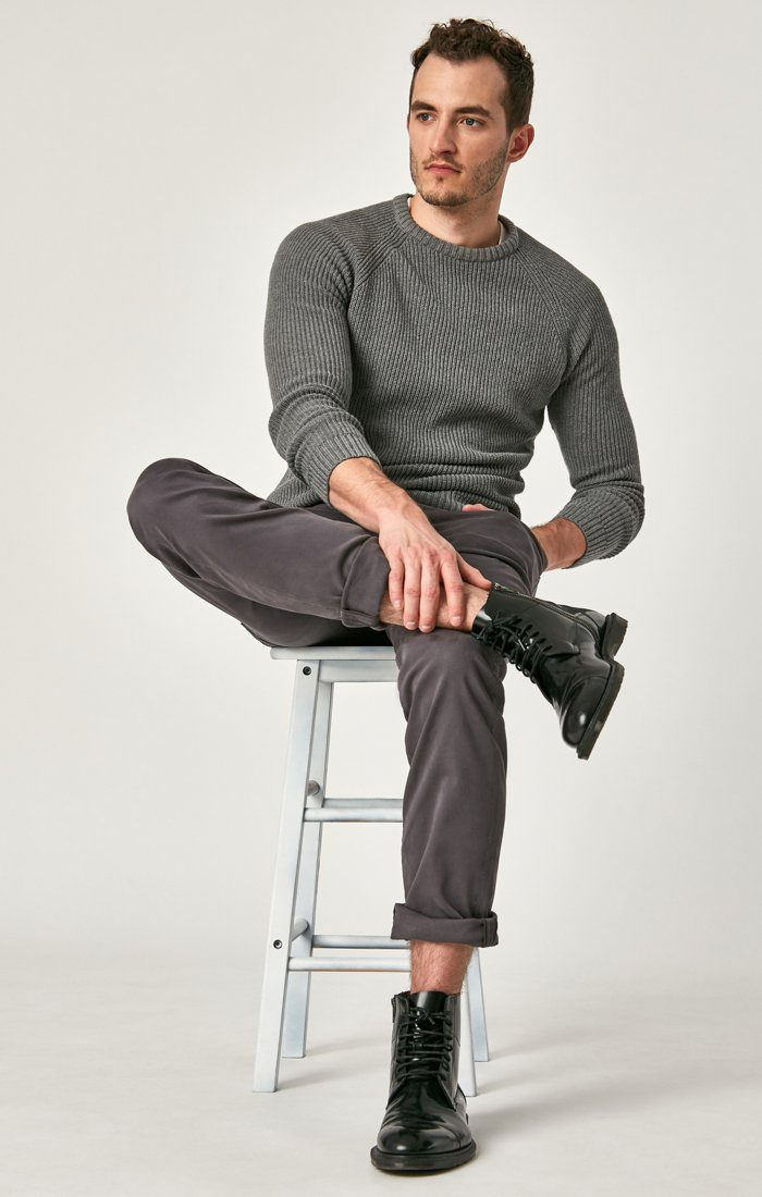 MATT RELAXED STRAIGHT LEG IN BLACKENED PEARL SATEEN - Mavi Jeans
