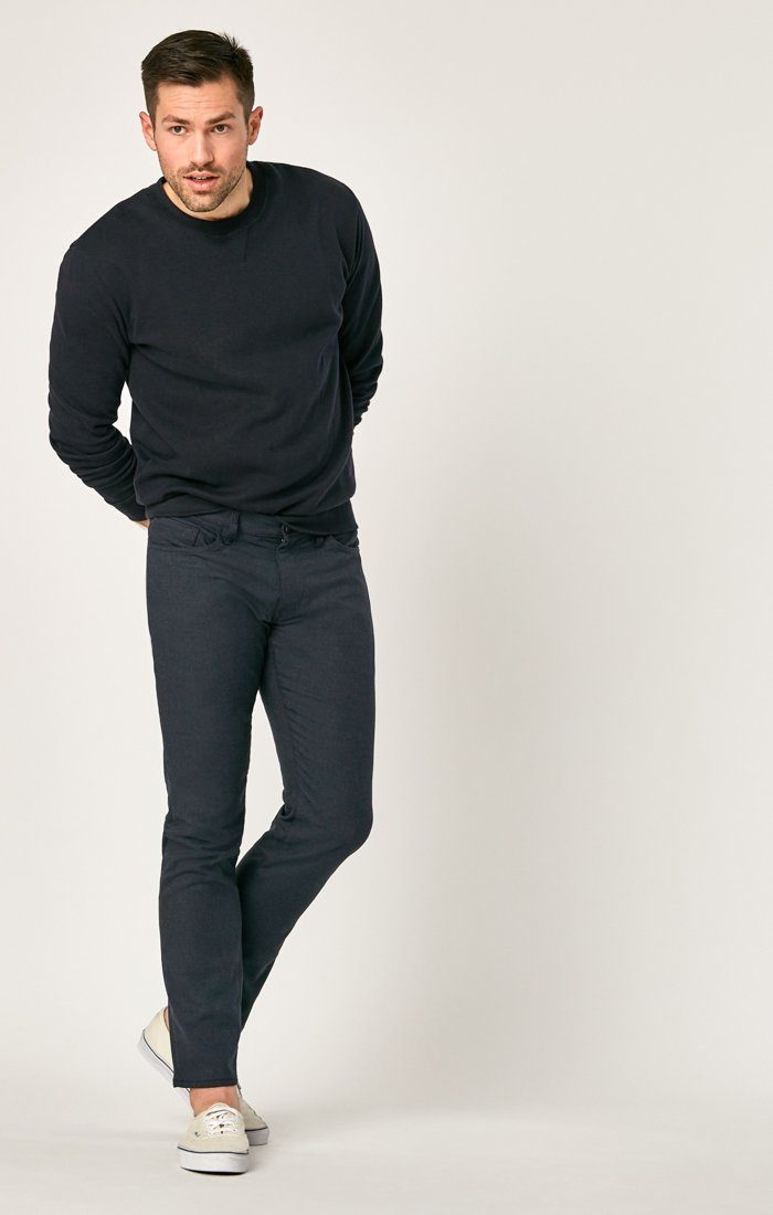MATT RELAXED STRAIGHT LEG IN NAVY FEATHER TWEED - Mavi Jeans