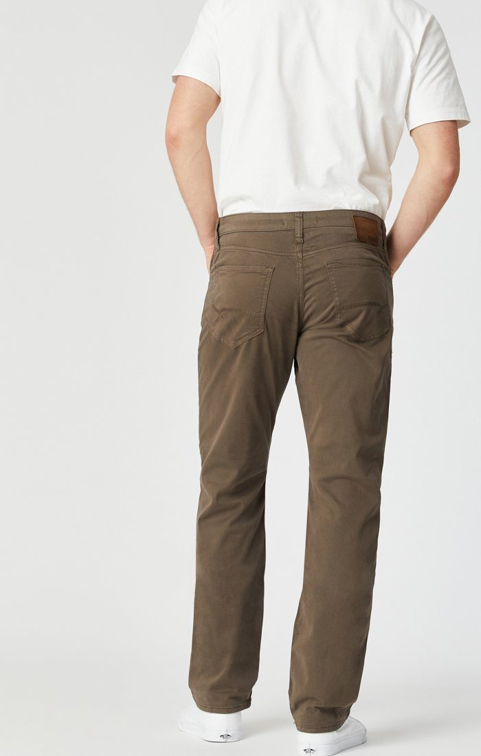 MATT RELAXED STRAIGHT LEG IN MOREL SATEEN TWILL Image 5