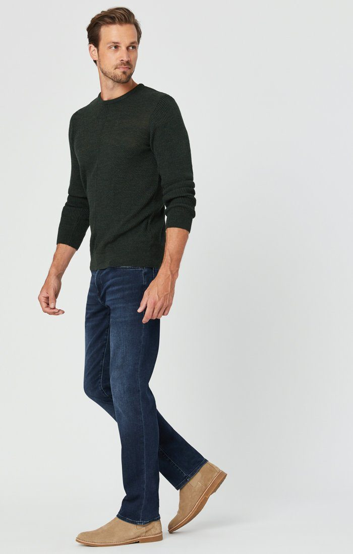 MATT RELAXED STRAIGHT LEG JEANS IN DARK BLUE ATHLETIC Image 4