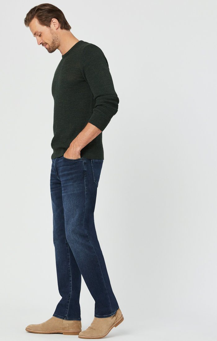 MATT RELAXED STRAIGHT LEG JEANS IN DARK BLUE ATHLETIC Image 5