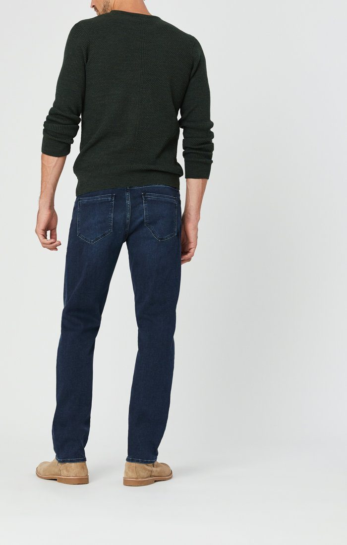 MATT RELAXED STRAIGHT LEG JEANS IN DARK BLUE ATHLETIC Image 6