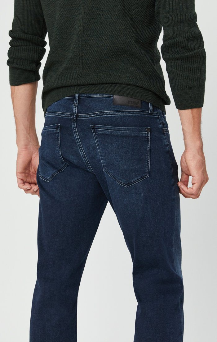 MATT RELAXED STRAIGHT LEG JEANS IN DARK BLUE ATHLETIC Image 7