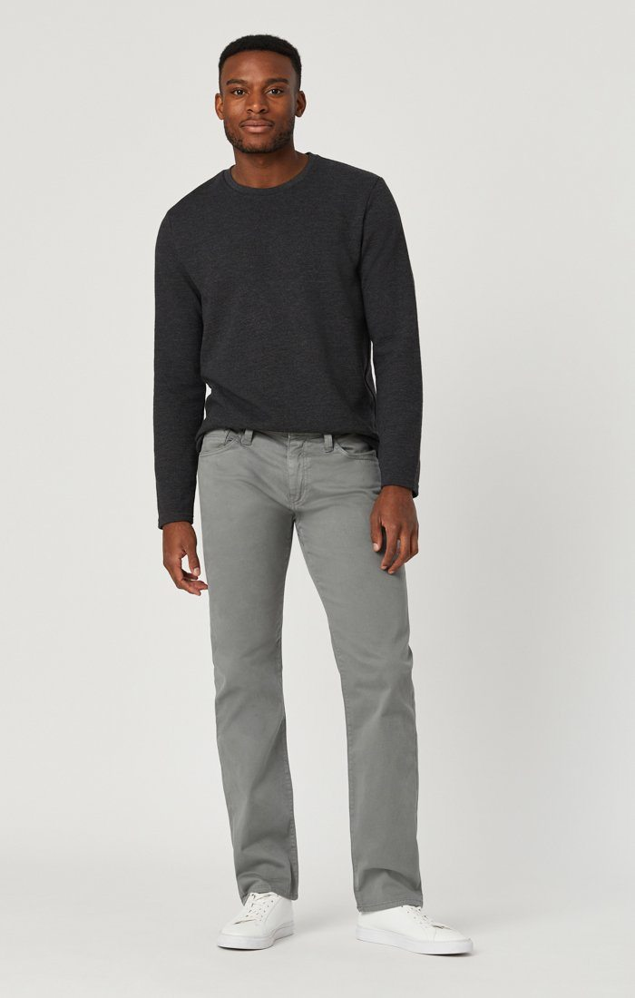 MARCUS SLIM STRAIGHT LEG IN GREY TWILL Image 3