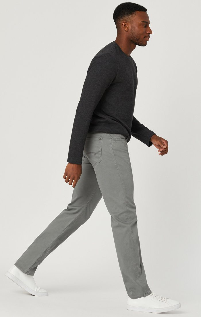 MARCUS SLIM STRAIGHT LEG IN GREY TWILL Image 4