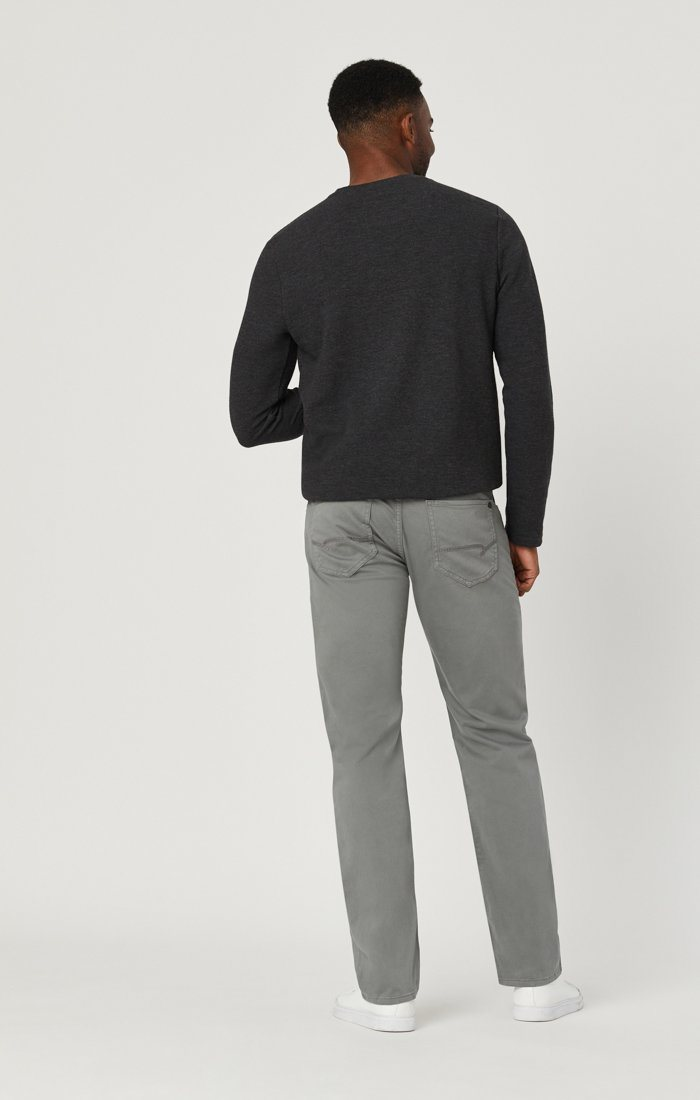 MARCUS SLIM STRAIGHT LEG IN GREY TWILL Image 5