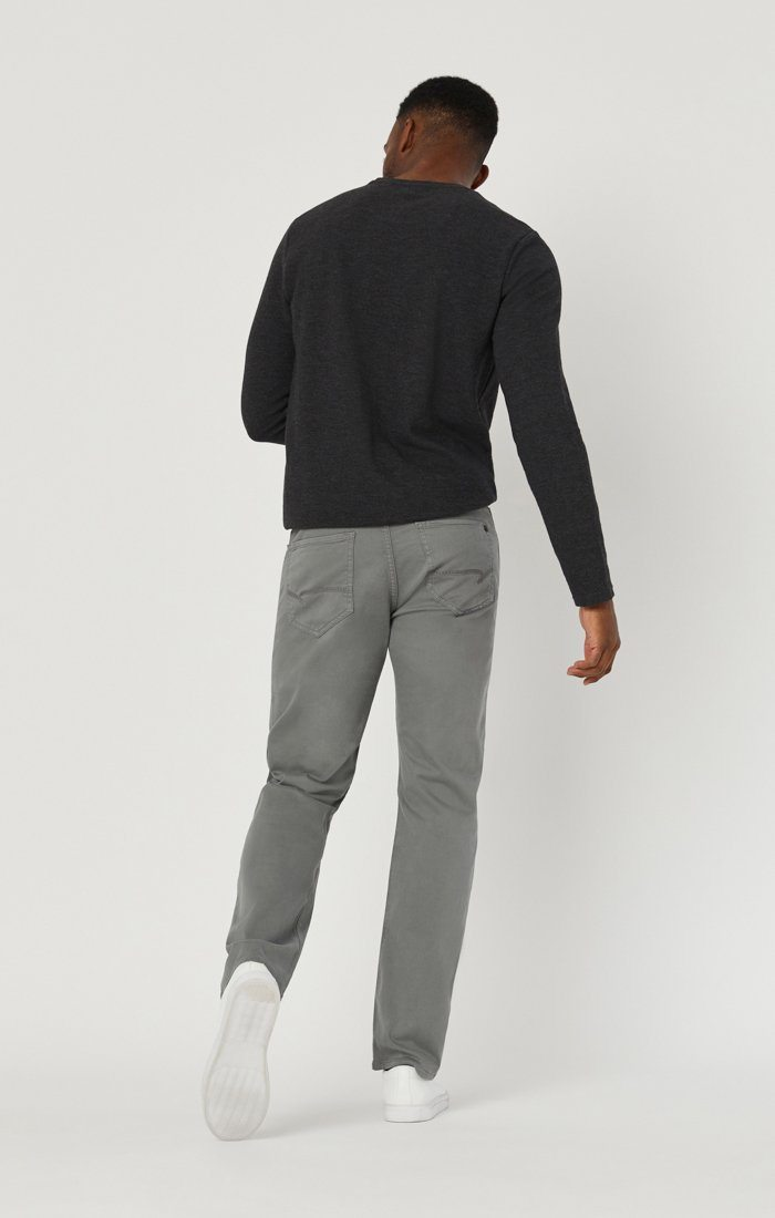 MARCUS SLIM STRAIGHT LEG IN GREY TWILL Image 2