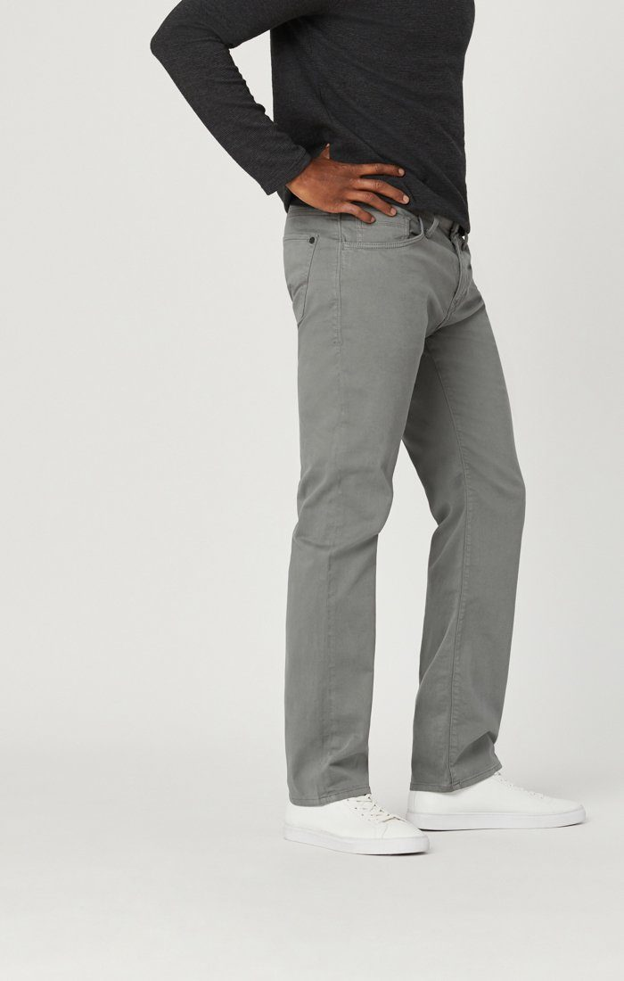MARCUS SLIM STRAIGHT LEG IN GREY TWILL Image 6