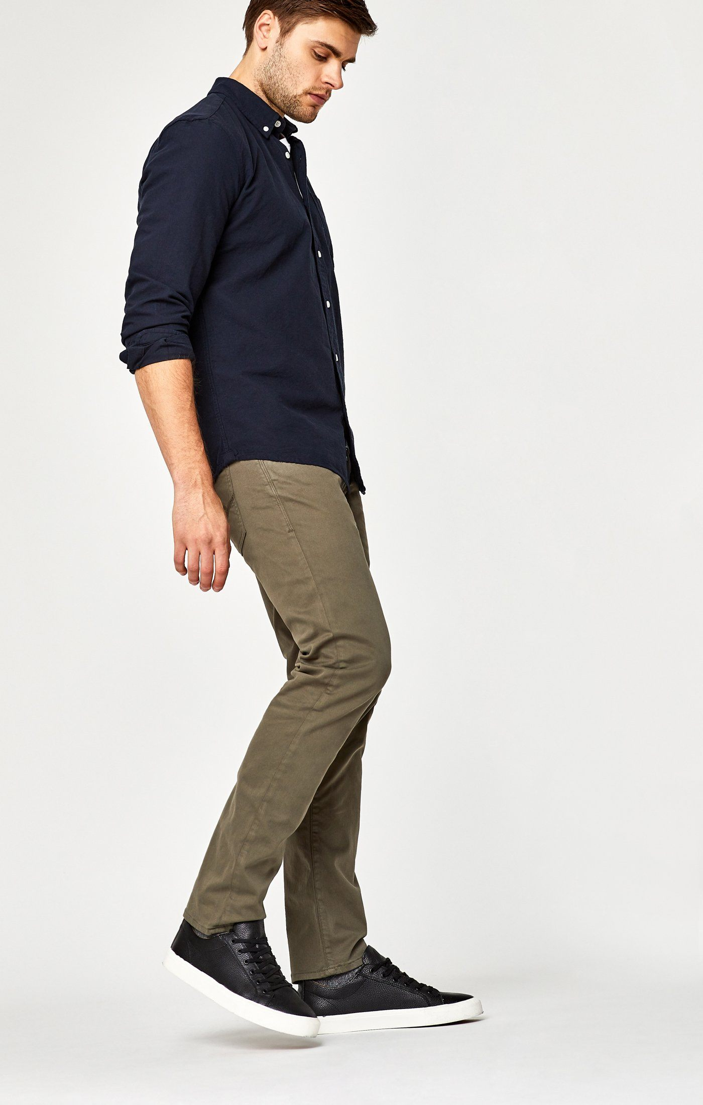 MARCUS SLIM STRAIGHT LEG IN DUSTY OLIVE TWILL Image 2