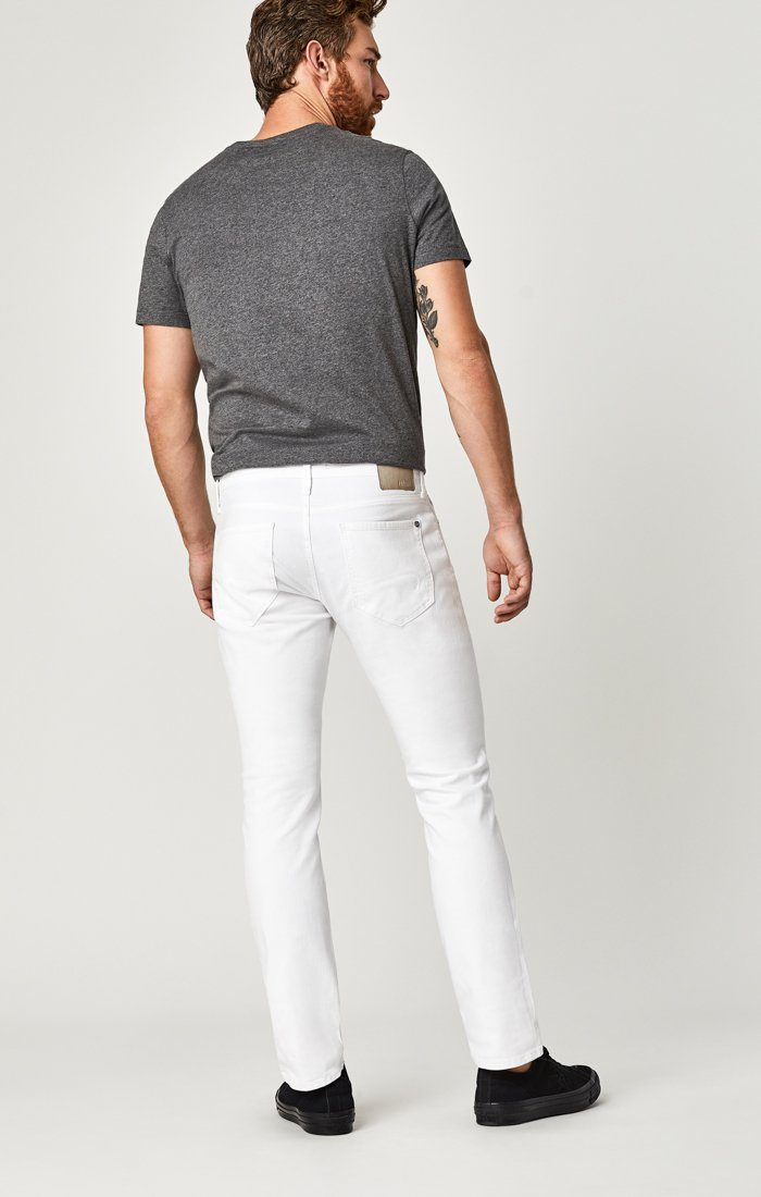 MARCUS SLIM STRAIGHT LEG IN WHITE WILLIAMSBURG - Mavi Jeans