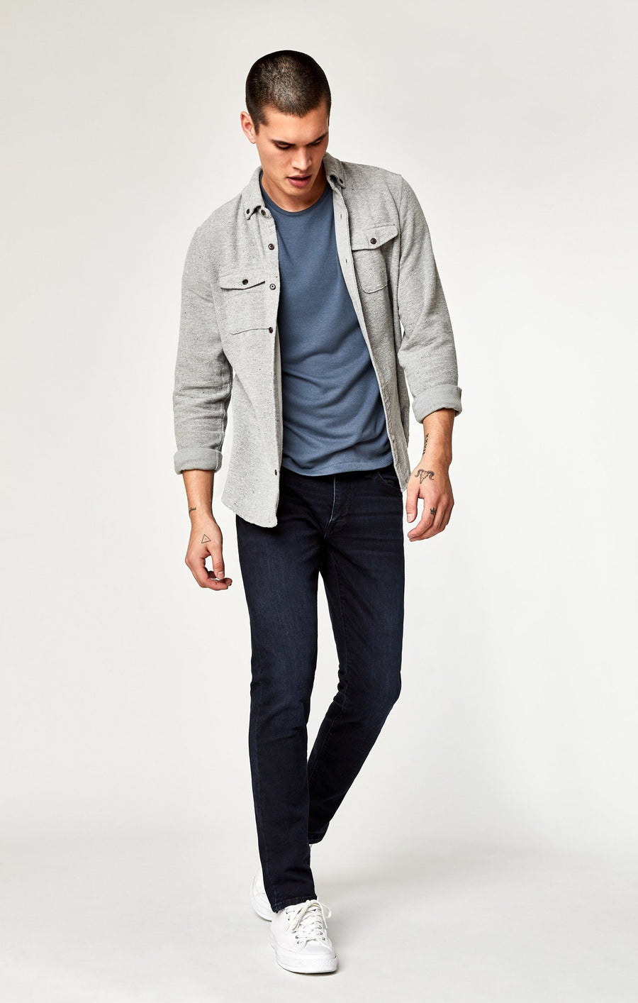 JAMES SKINNY IN INK FOGGY WILLIAMSBURG - Mavi Jeans
