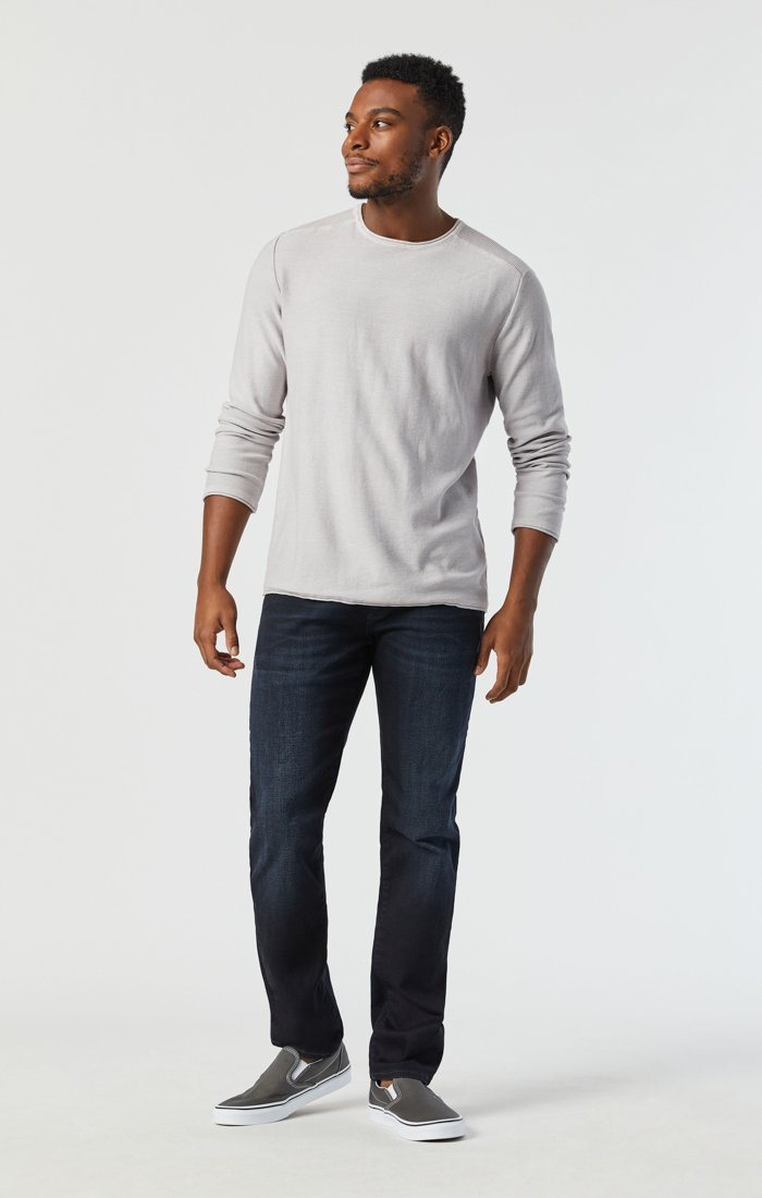 MARCUS SLIM STRAIGHT LEG JEANS IN DEEP INK CASHMERE Image 3