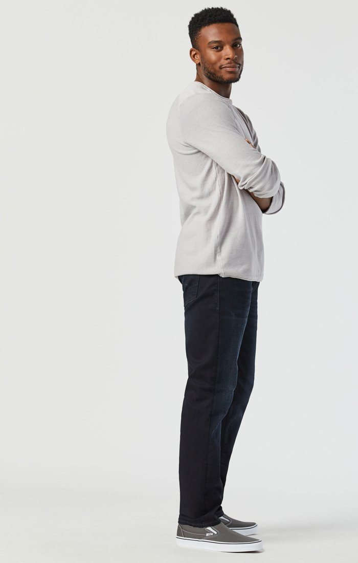 MARCUS SLIM STRAIGHT LEG JEANS IN DEEP INK CASHMERE Image 4