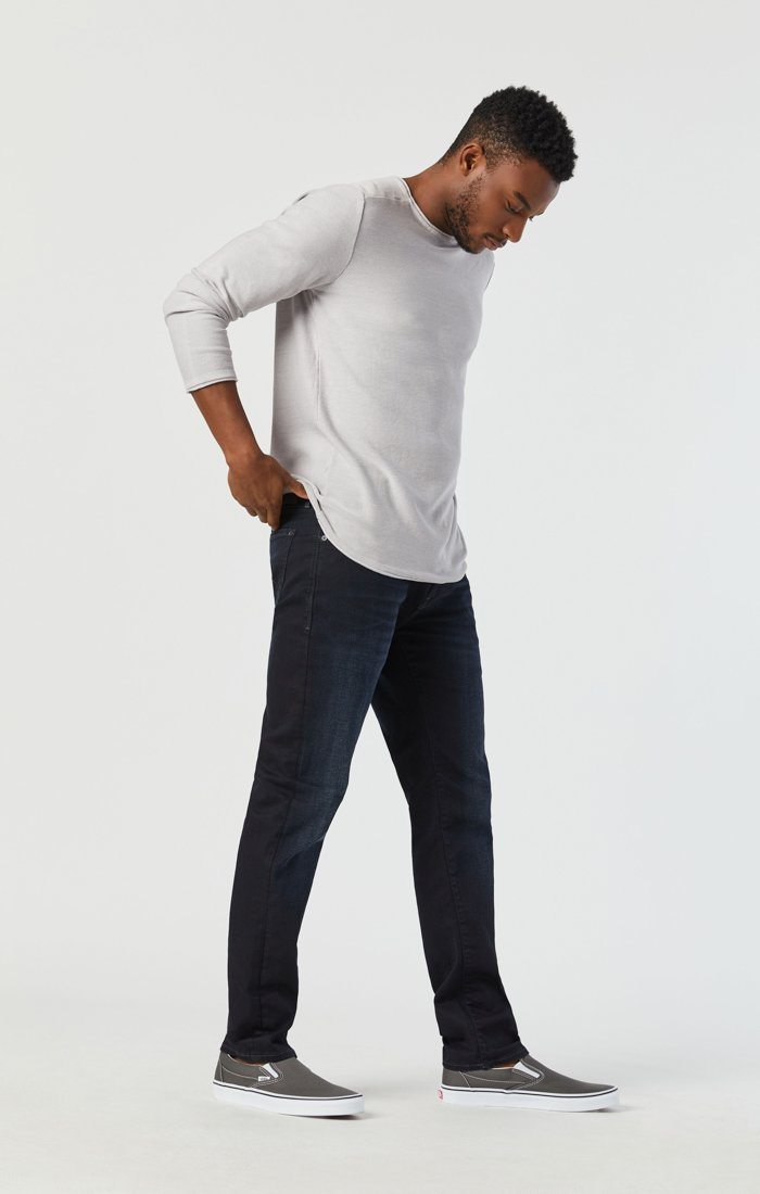 MARCUS SLIM STRAIGHT LEG JEANS IN DEEP INK CASHMERE Image 5