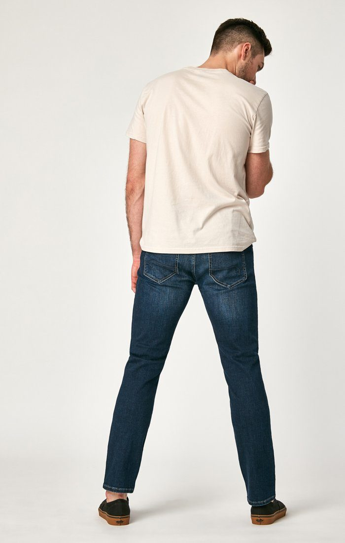 MARCUS SLIM STRAIGHT LEG IN DEEP BLUE CASHMERE - Mavi Jeans