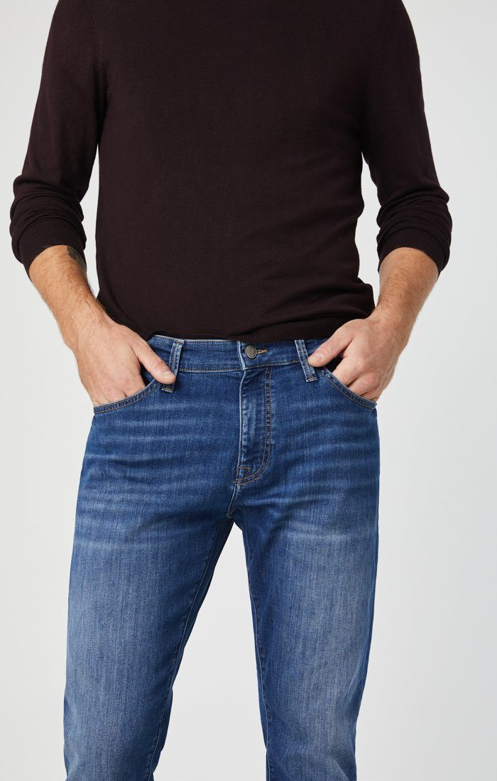 MARCUS SLIM STRAIGHT LEG JEANS IN MID BRUSHED WILLIAMSBURG Image 1