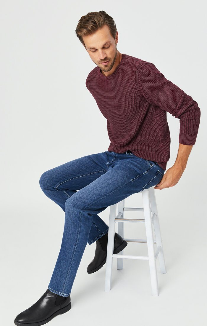 MARCUS SLIM STRAIGHT LEG JEANS IN MID SUPERMOVE Image 1
