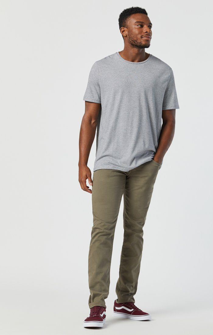 JAKE SLIM LEG IN DUSTY OLIVE TWILL Image 4
