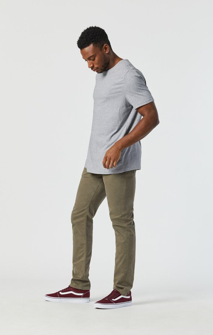 JAKE SLIM LEG IN DUSTY OLIVE TWILL Image 2