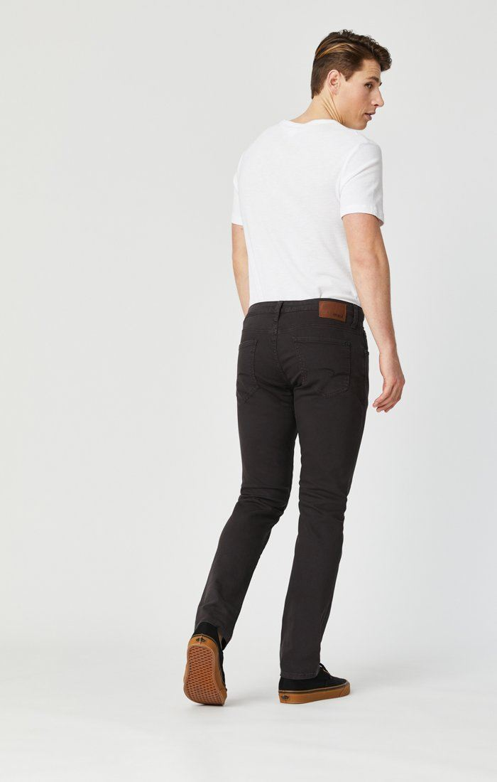 JAKE SLIM LEG IN DARK BROWN WASHED COMFORT Image 6