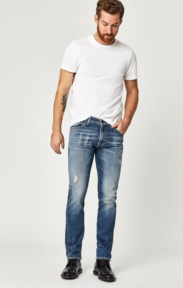 JAKE SLIM LEG IN DARK SHADED AUTHENTIC VINTAGE - Mavi Jeans
