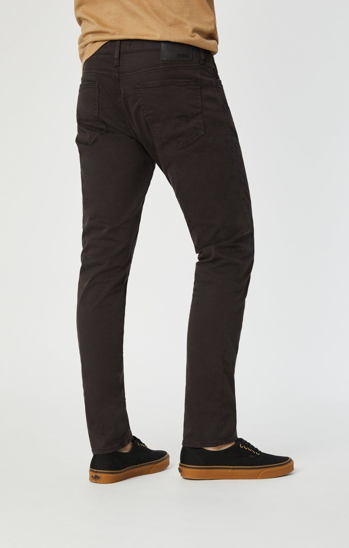 JAKE SLIM LEG IN BLACK COFFEE SATEEN - Mavi Jeans