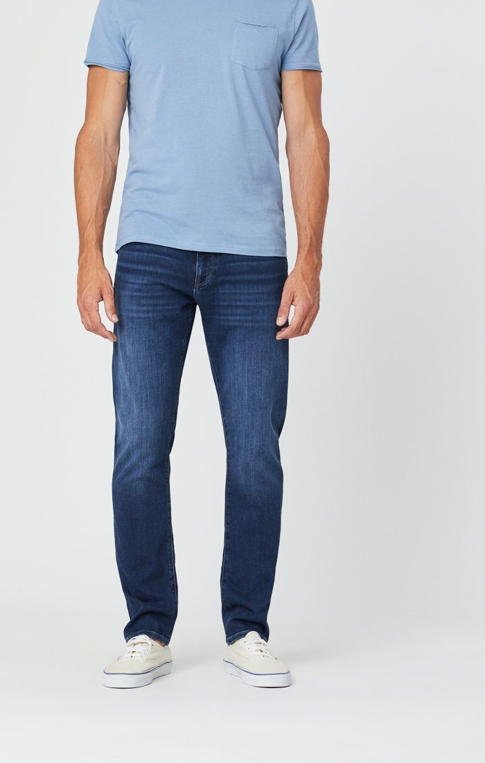 JAKE SLIM LEG JEANS IN DARK INDIGO ATHLETIC Image 3