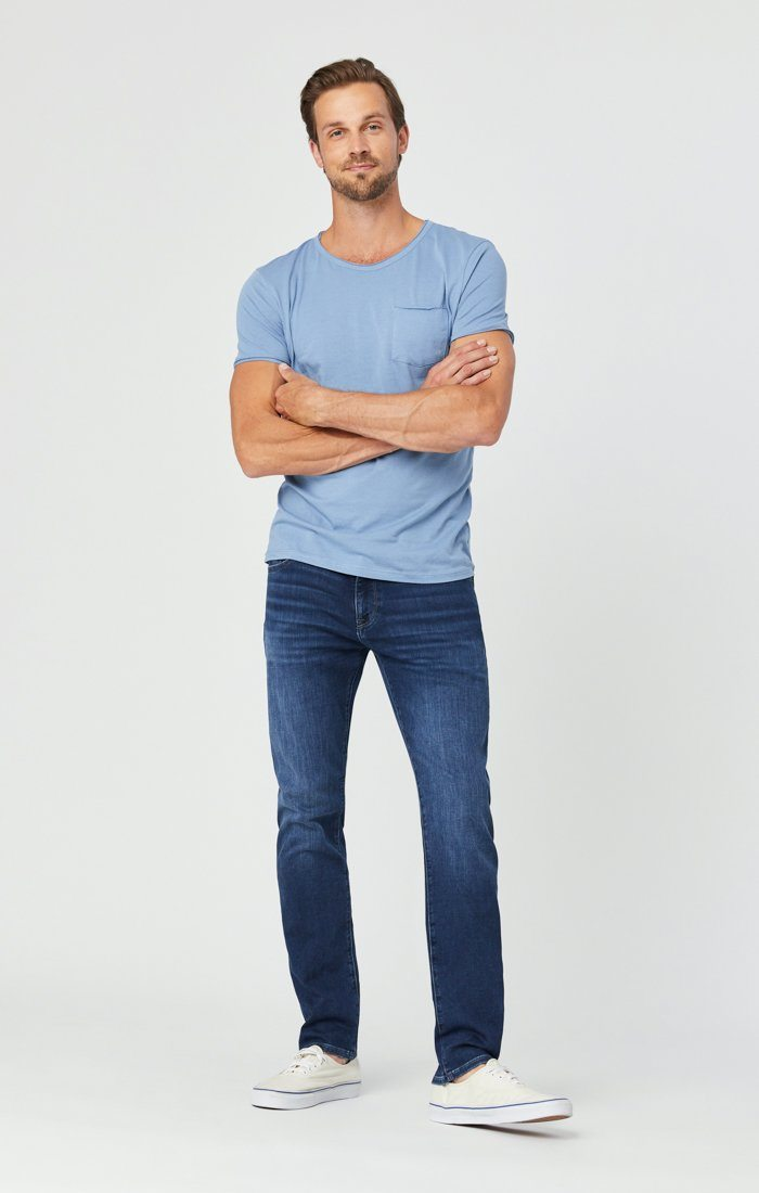 JAKE SLIM LEG JEANS IN DARK INDIGO ATHLETIC Image 2