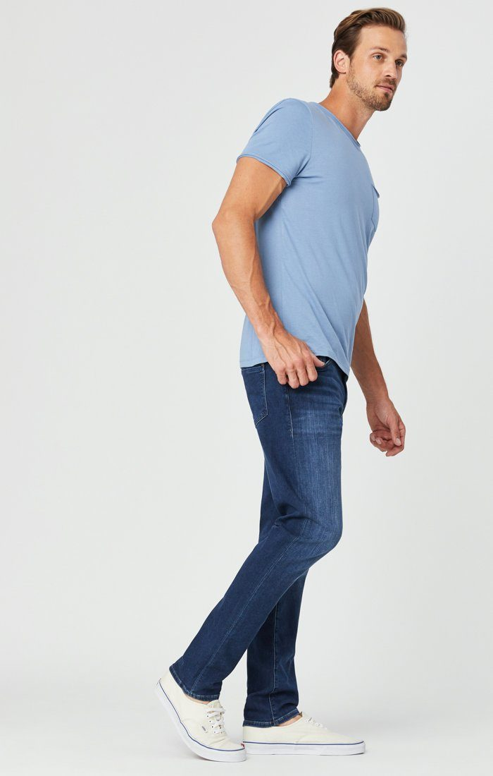 JAKE SLIM LEG JEANS IN DARK INDIGO ATHLETIC Image 4