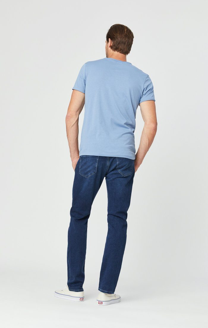 JAKE SLIM LEG JEANS IN DARK INDIGO ATHLETIC Image 6