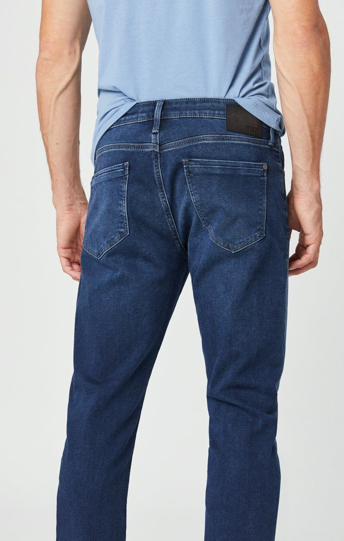 JAKE SLIM LEG JEANS IN DARK INDIGO ATHLETIC Image 5