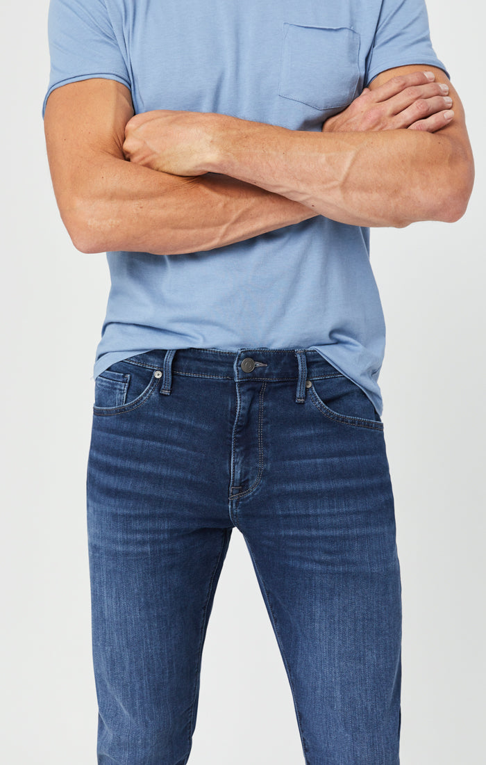 JAKE SLIM LEG JEANS IN DARK INDIGO ATHLETIC Image 7