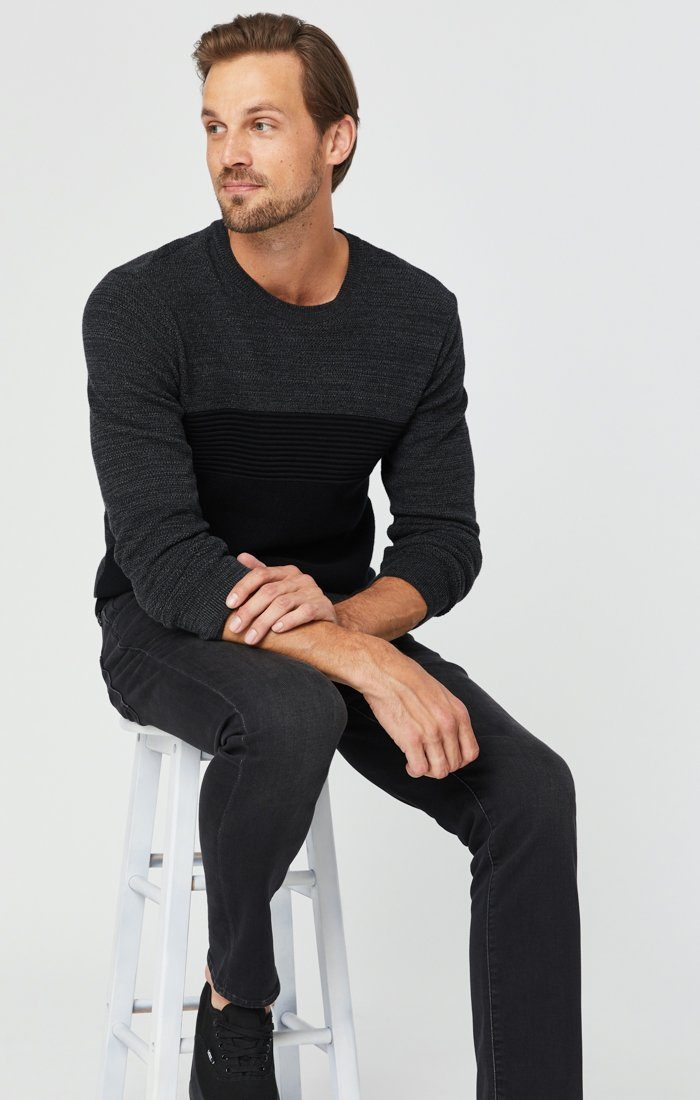 JAKE SLIM LEG JEANS IN DARK SMOKE ATHLETIC Image 1