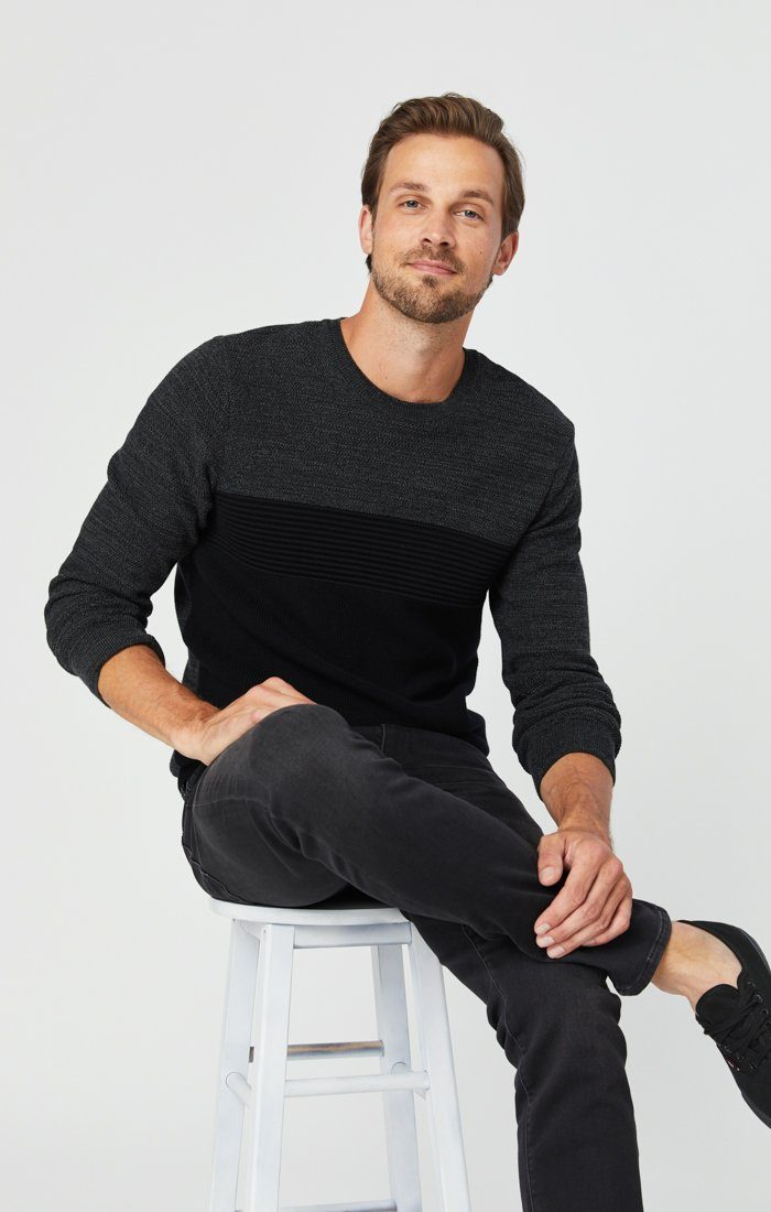 JAKE SLIM LEG JEANS IN DARK SMOKE ATHLETIC Image 4